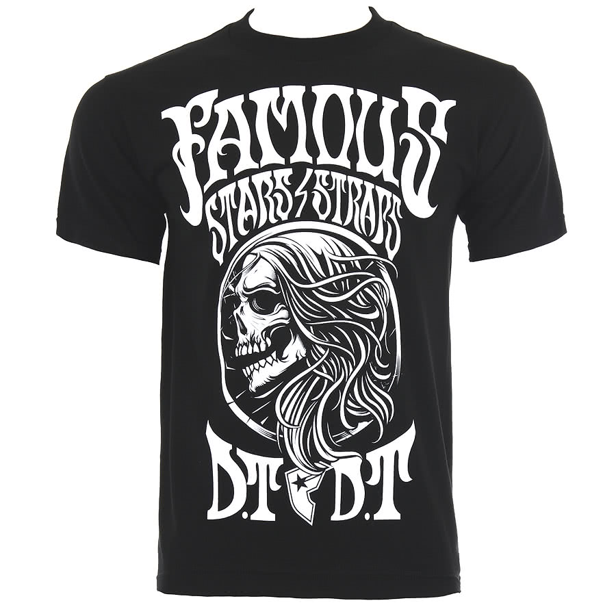 Famous Stars and Straps Sickadelic T Shirt (Black)