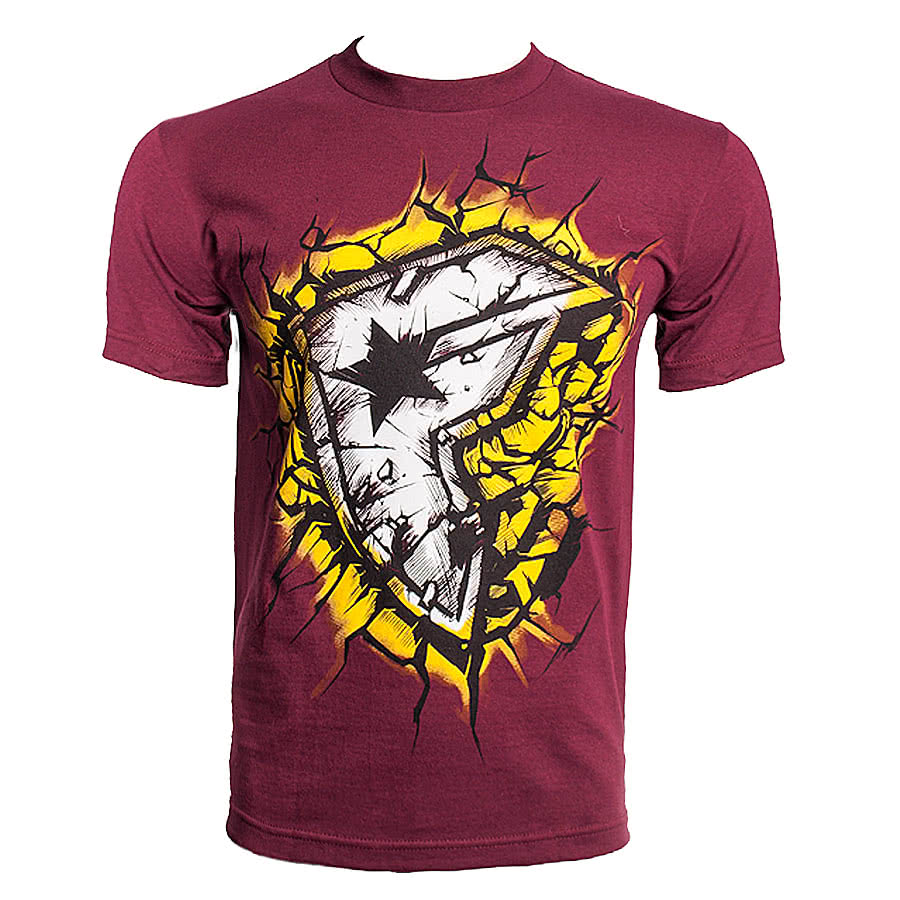 Famous Stars and Straps On Impact T Shirt (Burgundy)