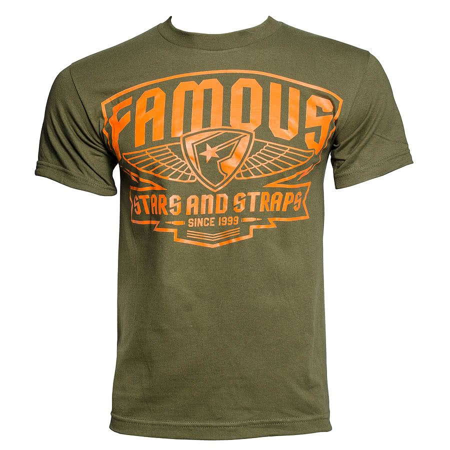 Famous Stars and Straps Brigade Patch T Shirt (Green)