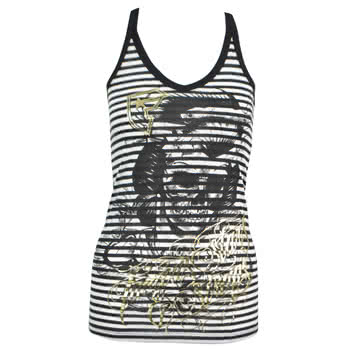 Famous Stars and Straps Stripe Geisha Tank Top (Black)