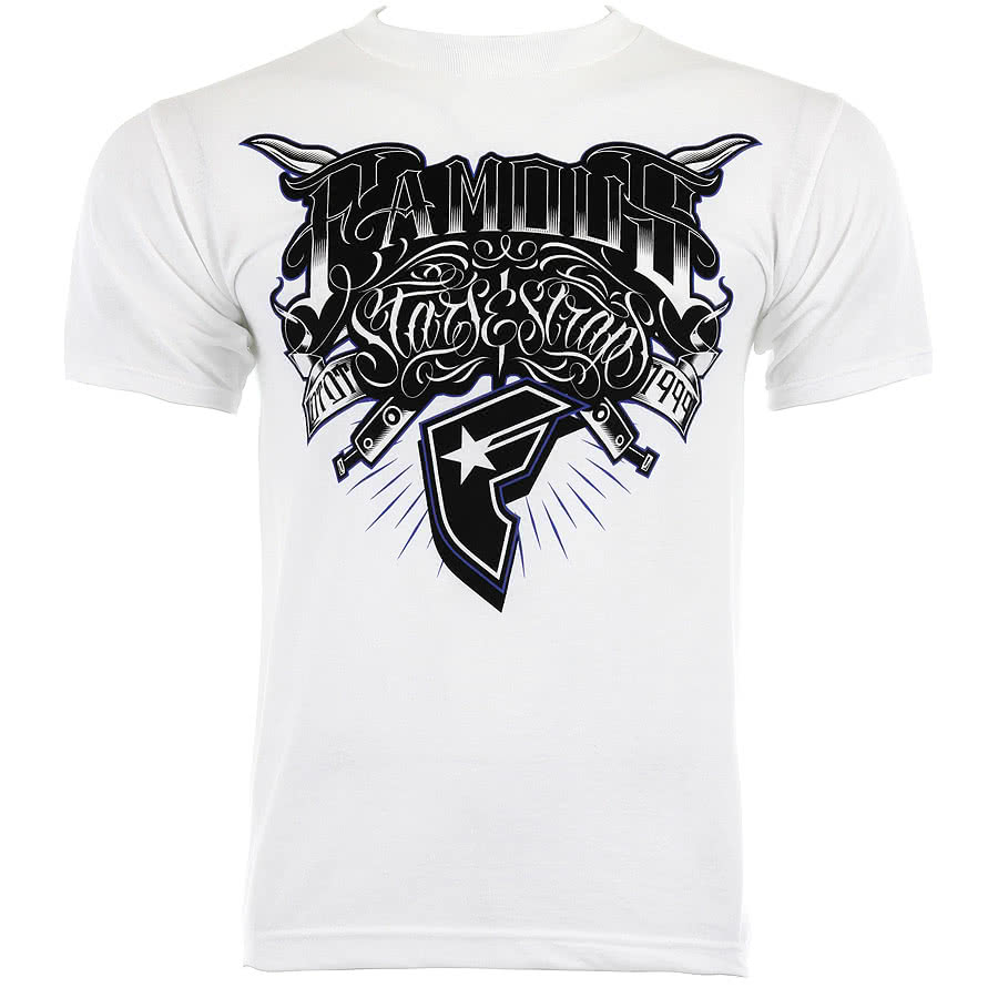 Famous Stars and Straps Cut Throat T Shirt (White)