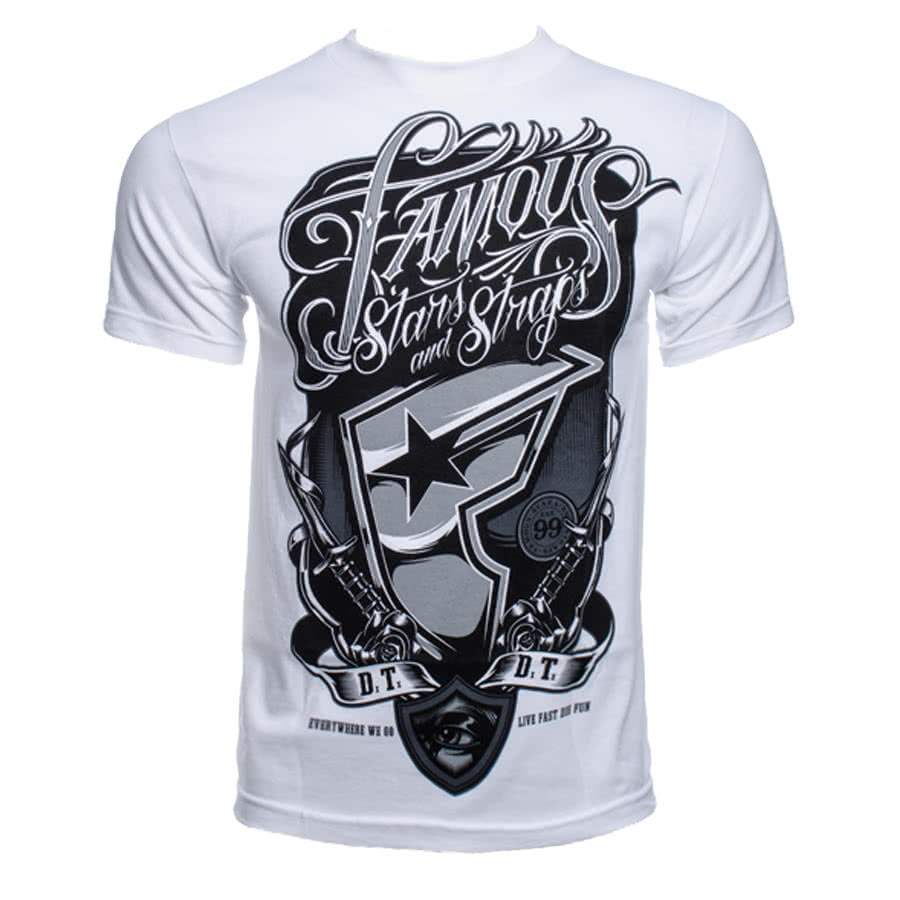Famous Stars and Straps Rough House T Shirt (White)