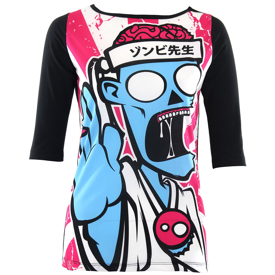 Flip Flop & Fangs Kung Fu Zombie Top (Black)