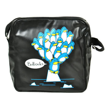 Flip Flops And Fangs Penguins Bag (Black)