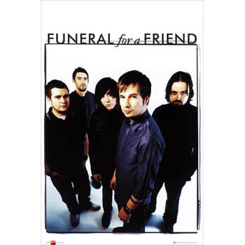 Funeral For A Friend Group Photo Print Poster (White)