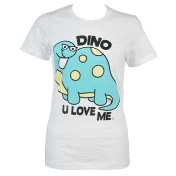 Goodie Two Sleeves Dino Skinny Fit T Shirt (White)