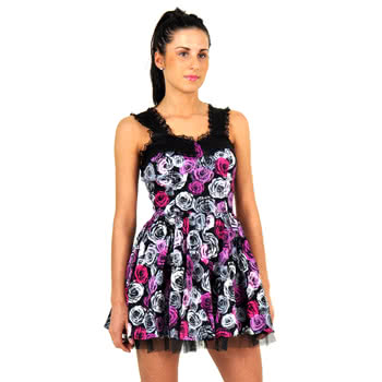 H&R Bleeding Roses Print Dress (Pink)