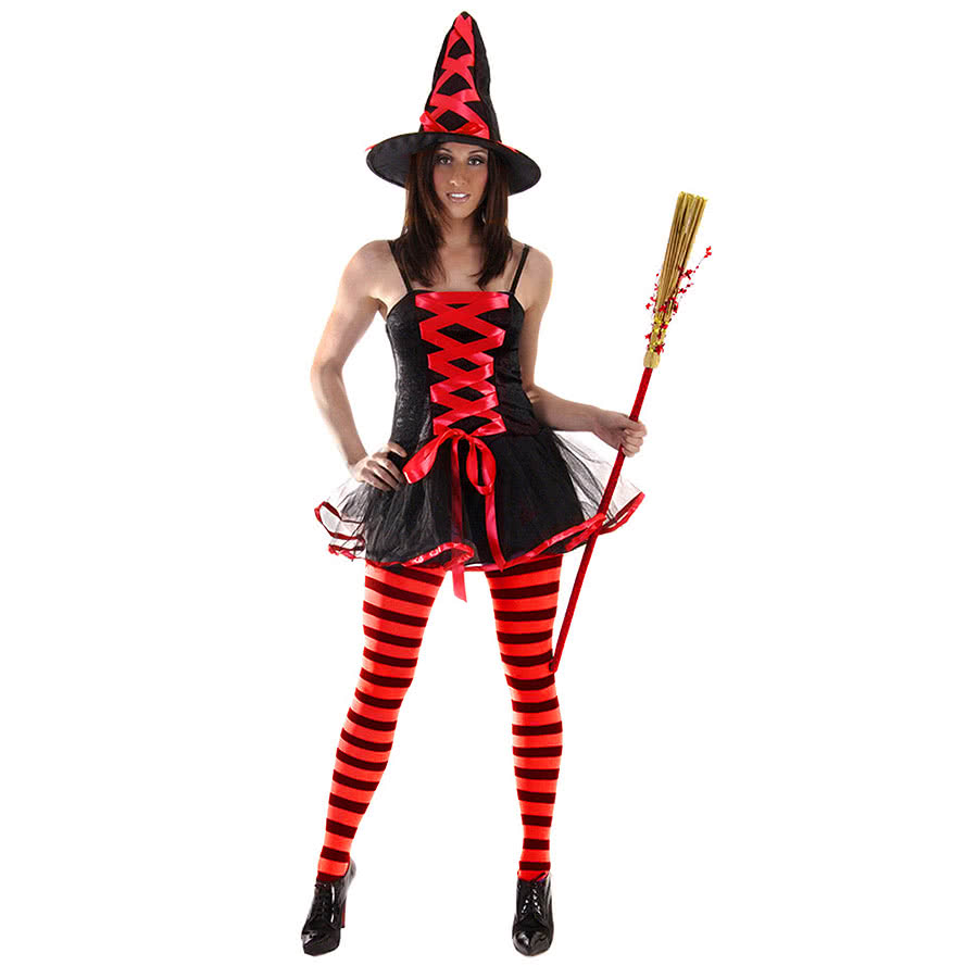 Halloween Sexy Witch Fancy Dress Costume (Red). Click on an image to change, ...
