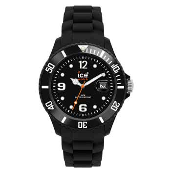 Ice Watch Silicon Black Watch (Unisex)