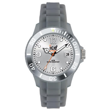 Ice Watch Silicon Silver Watch (Unisex)