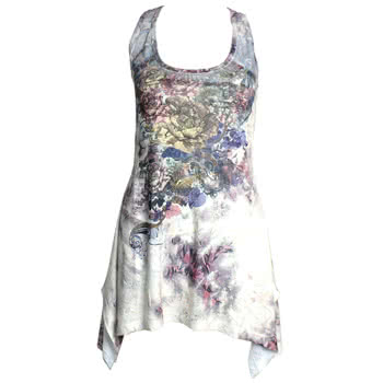 Innocent Lace Panel Vintage Rose Vest (Multi-Coloured)