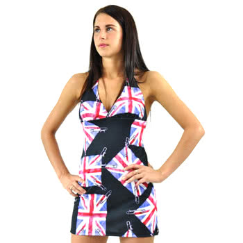 Insanity Union Jack Fade Dress (Black)