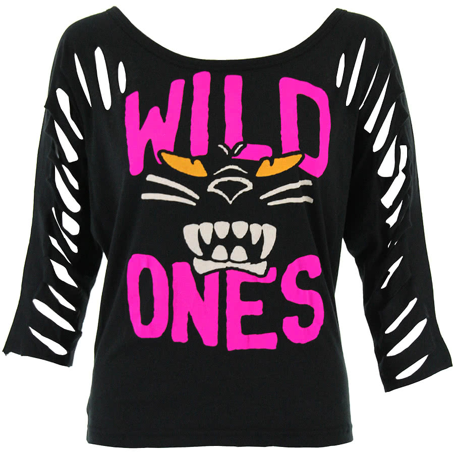 Iron Fist Wild Ones 3/4 Sleeve Top (Black)