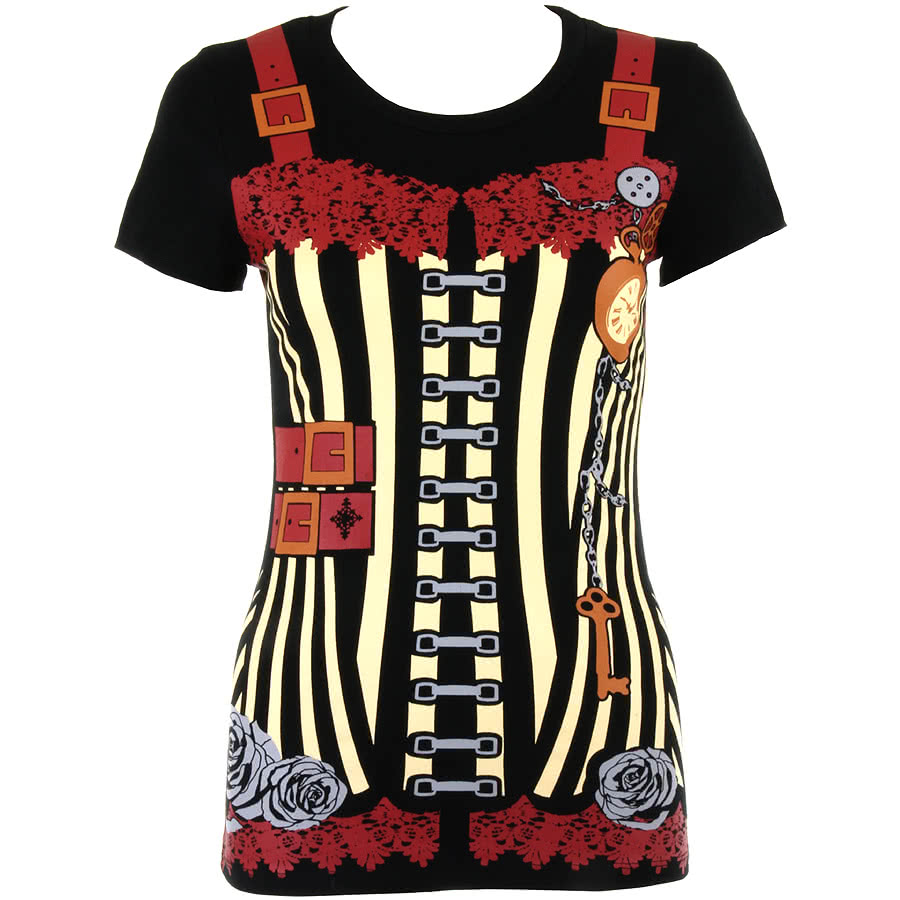Jawbreaker Steampunk Skinny Fit T Shirt (Black)