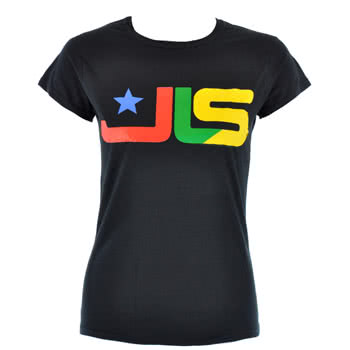 JLS Logo Skinny Fit T Shirt (Black)