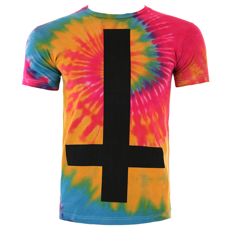 Kill Star Cross Tie Dye T Shirt (Multi-Coloured)