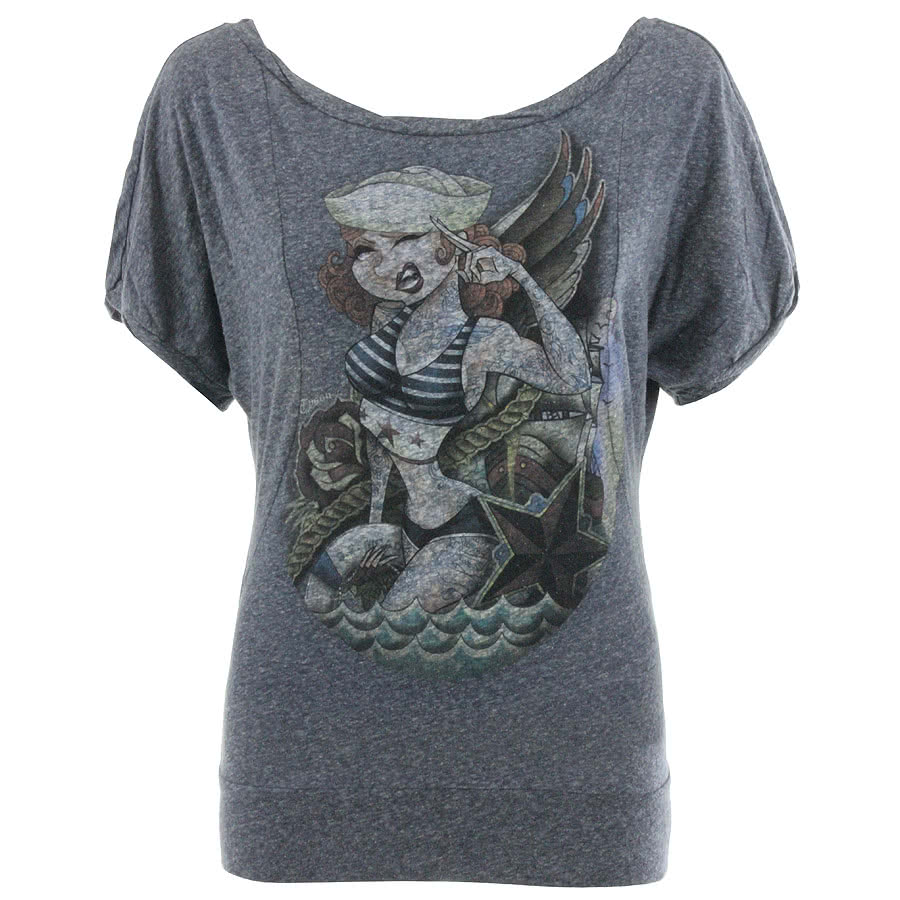 Lowbrow Sailor Jerry Top (Charcoal)