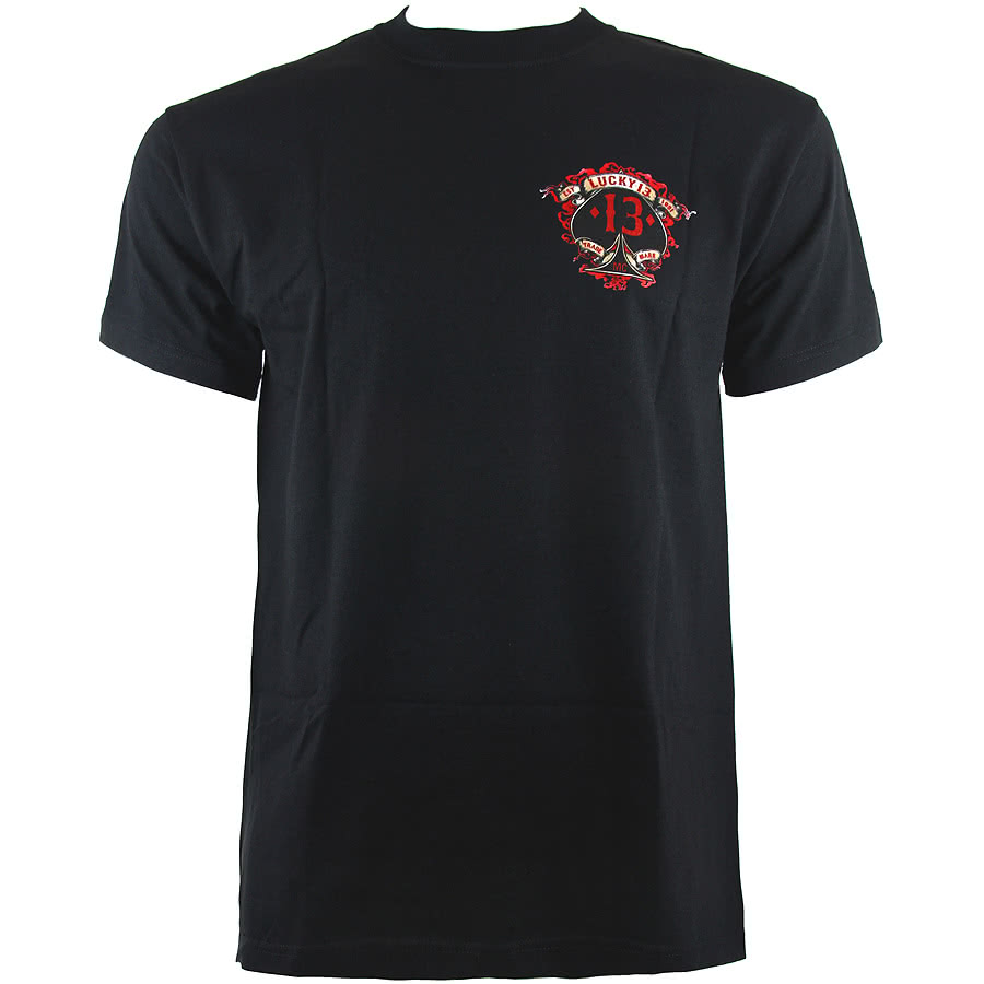 Lucky 13 Motor Skull T Shirt (Black)