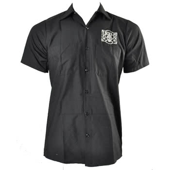 Lucky 13 Tombstone Print Shirt (Black)
