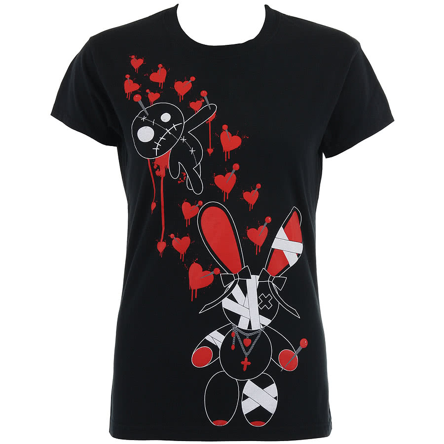 Luv Bunny Luv T Shirt (Black/Red)