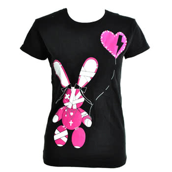 Luv Bunny By Poizen Industries Stitch Skinny Fit T Shirt