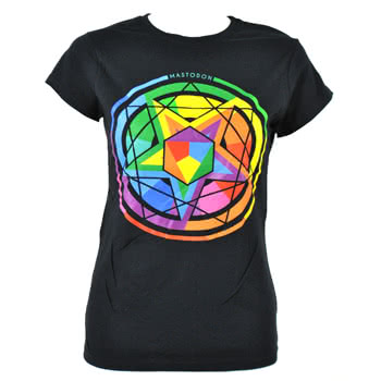 Mastodon Colour Theory Skinny Fit T Shirt (Black)