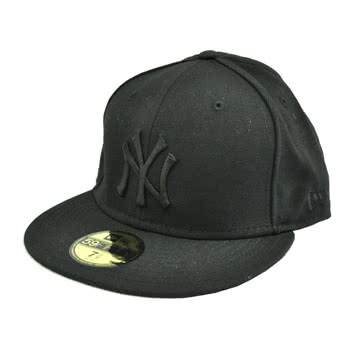 New Era NY Yankees Logo Basic Cap (Black)