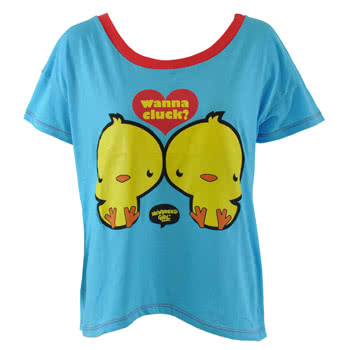 Newbreed Girl 80's Cheeky Chix Top (Blue)