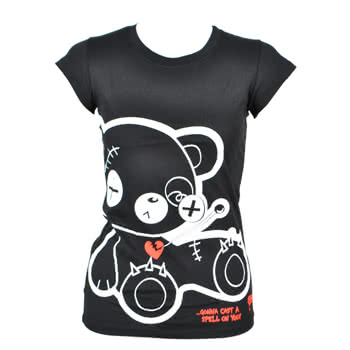 Newbreed Girl Evil Friends Skinny Fit T Shirt (Black)