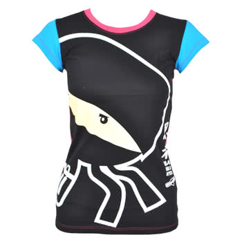 Newbreed Girl Sneak Attack Skinny Fit T Shirt (Black)