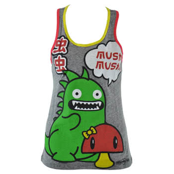 Newbreed Girl Mushi Tokzilla Vest Top (Grey)