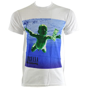 Nirvana Nevermind T Shirt (White)