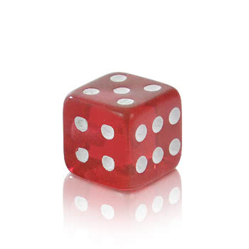 Novelty Dice 5mm Add On (UV Red)
