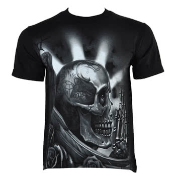 OG Abel Pray Skull T Shirt (Black)