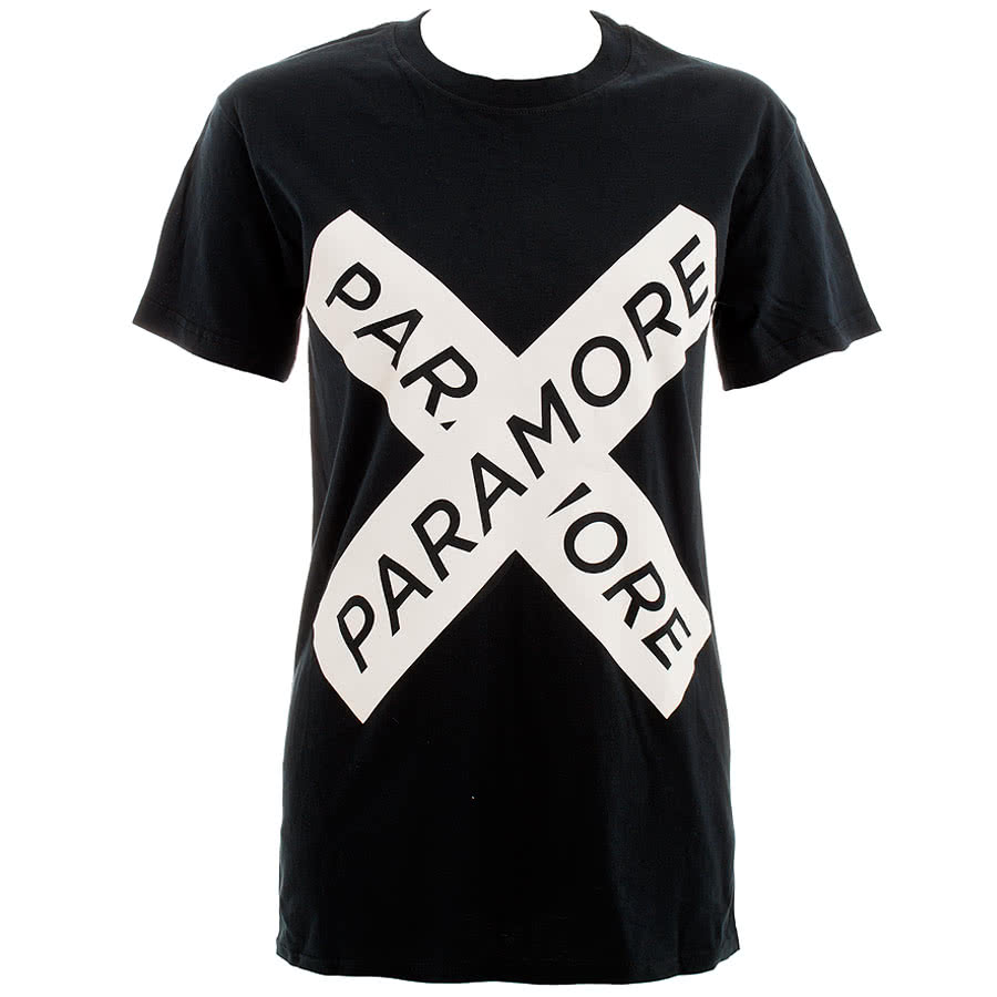 Paramore Cross Skinny Fit T Shirt (Black)
