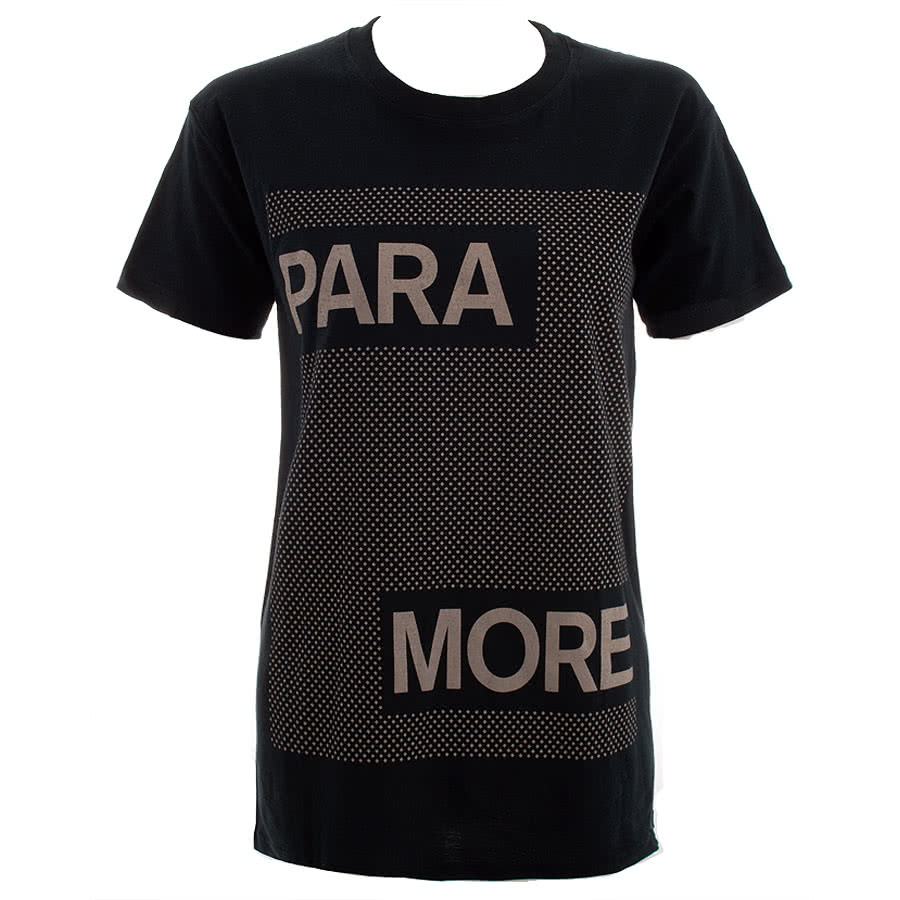 Paramore Dots Skinny Fit T Shirt (Black)