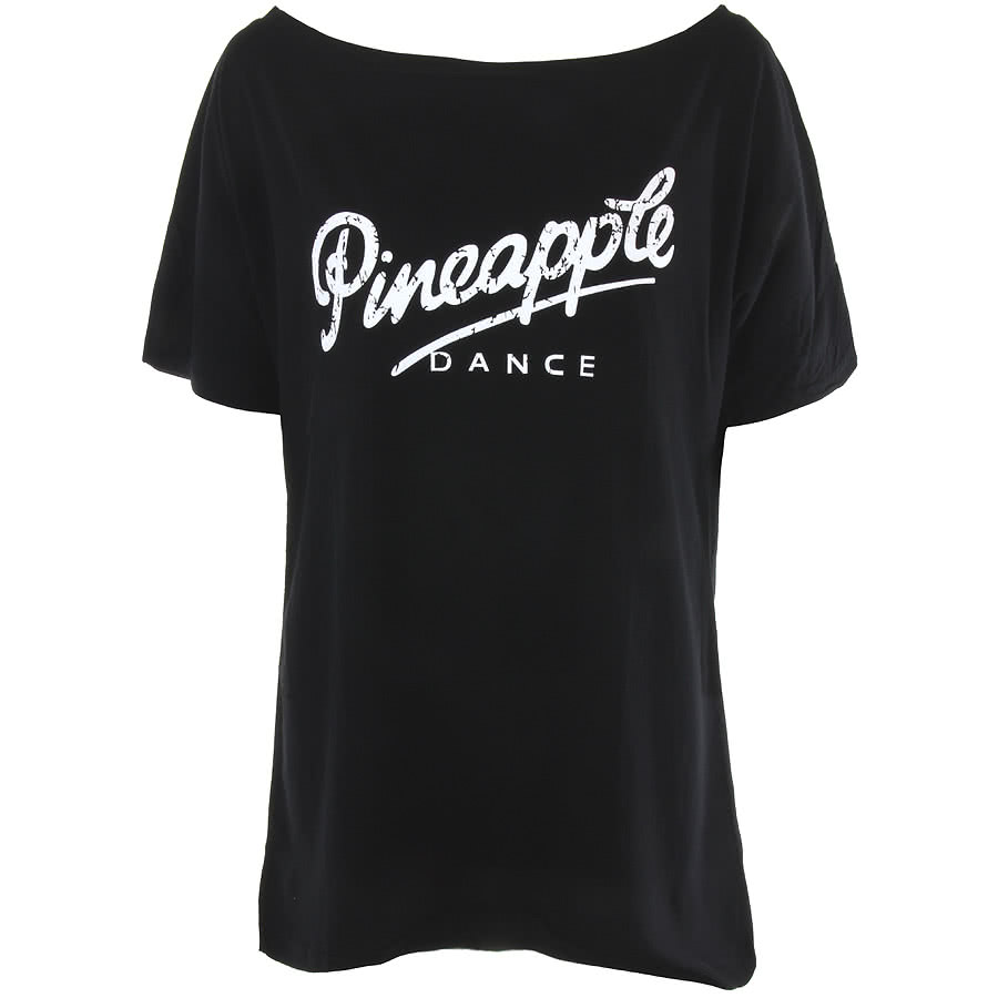 Pineapple Oversized Retro T Shirt (Black)