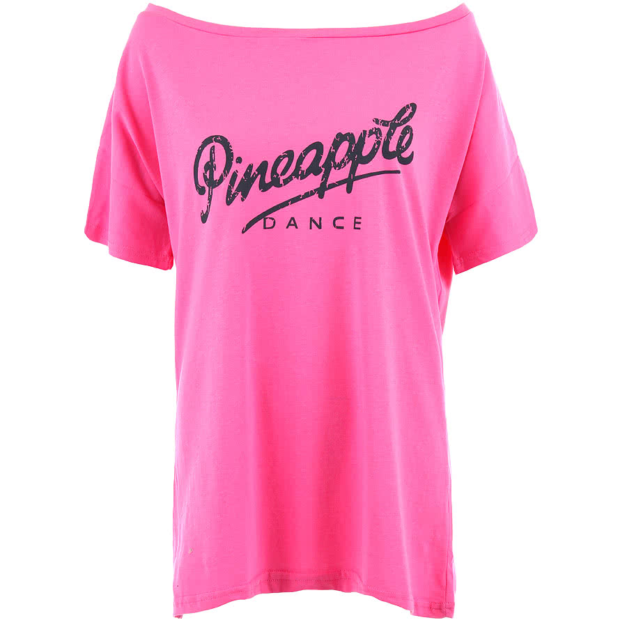 Pineapple Oversized Retro T Shirt (Pink)