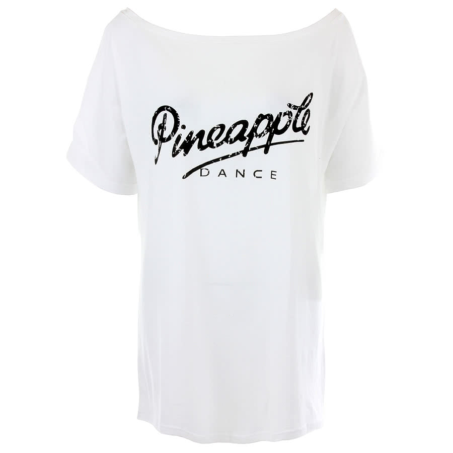 Pineapple Oversized Retro T Shirt (White)