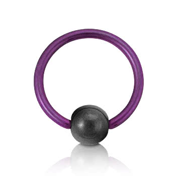 Coloured Titanium 1.2mm BCR (Purple)