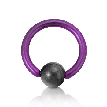 Coloured Titanium 1.6mm BCR (Purple)