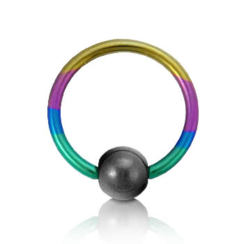 Coloured Titanium 1.2mm BCR (Rainbow)