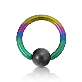 Coloured Titanium 1.6mm BCR (Rainbow)