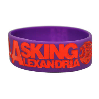Rokk Bands Asking Alexandria Eyeball Wristband (Purple)
