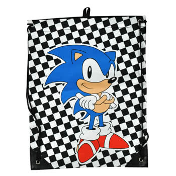 Sega Sonic Gym Bag (Black/White)