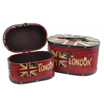 Blue Banana Union Jack Keepsake Boxes (Set of Two)