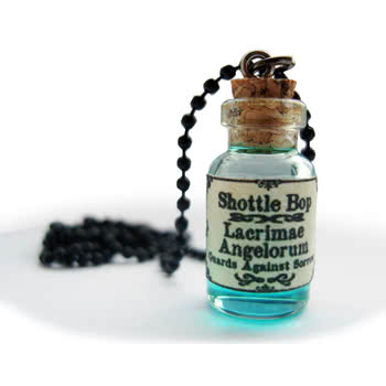 Shottle Bop Angel Tears Bottle Necklace (Blue)