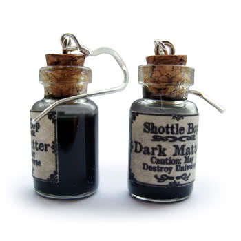 Shottle Bop Dark Matter Bottle Earrings (Black)