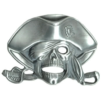Blue Banana Skull And Sword Style Belt Buckle