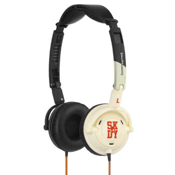 Skullcandy Decibel Collection Lowrider Black Bone Headphones (Black/White)